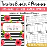 Floral Teacher Binder