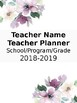 Floral Teacher Binder Cover/Spine/Tabs Editable!