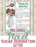 Floral Teacher Introduction Letter