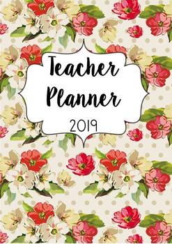 Floral Australian Teacher Planner 2018 with Editable Cover