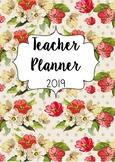 Floral Australian Teacher Planner 2019 with Editable Cover