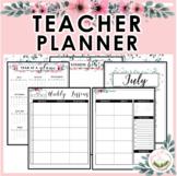 Floral Teacher Planner (July 2018-June2019)