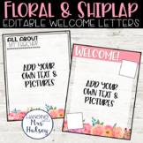 Floral Teacher Welcome Letters (Editable)