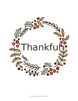 Floral Thankful