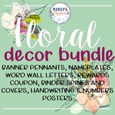 Classroom Decor Flowers | floral classroom themes decor bundles
