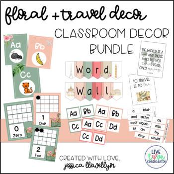 Floral + Travel Classroom Decor *Growing Bundle*