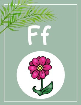 Floral + Travel Decor Alphabet Posters (Green)
