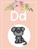 Floral + Travel Decor Alphabet Posters (Pink)