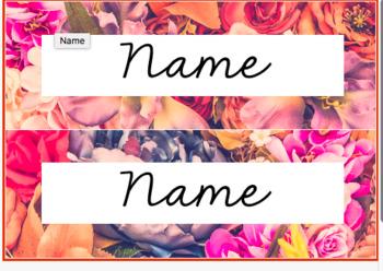 Editable Floral Labels