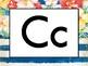 Floral Watercolor Alphabet Line