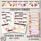 Floral Watercolor Classroom Decor Editable Bundle