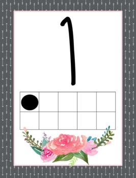 Floral Watercolor Classroom Decor (Growing bundle)