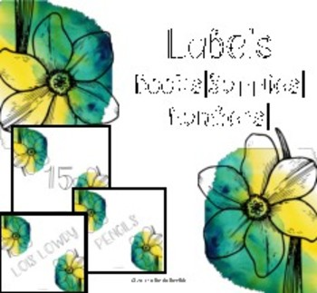 Floral Watercolor Labels