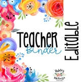 Floral Watercolor Teacher Binder & Planner Pack - Yearly Updates!