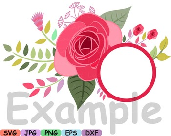 Floral Wedding Flower Spring summer valentines day making gift clip art -17sv