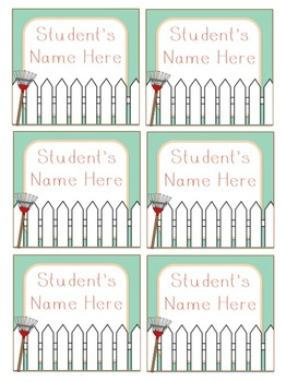 Floral Welcome Banner & Student Name Cards