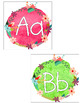 Floral Watercolor Word Wall Letter Labels