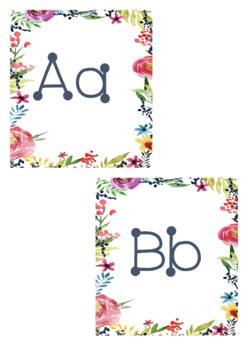 Floral Word Wall Letters