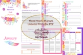 Floral Yearly Goals Planner Printable
