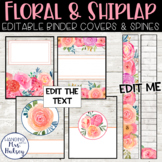 Floral and Shiplap Binder Covers and Spine Labels