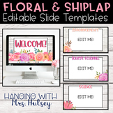 Floral and Shiplap Google Slides Templates Distance Learning