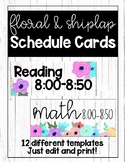 Floral and Shiplap Schedule Cards (Editable)