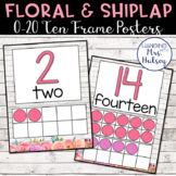 Floral and Shiplap Ten Frame Posters