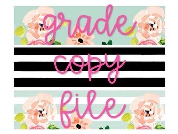 Floral and Stripes Classroom Decor Bundle (Editable)