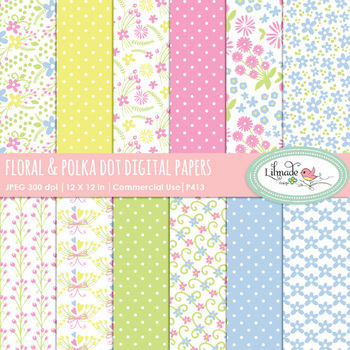 Floral backgrounds, floral digital papers