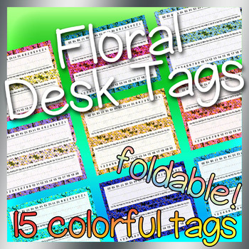 Floral Desk Tags / Name Plates