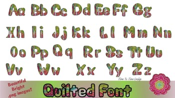 Floral font clipart for instant download.  Vibrant pinks and greens!