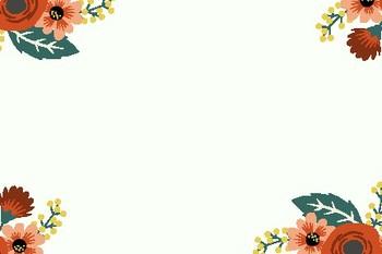 Floral Blank Editable Labels Flashcards