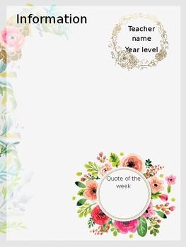 Floral newsletter template - editable & printable