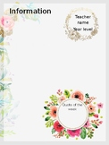 Floral newsletter template - editable & printable