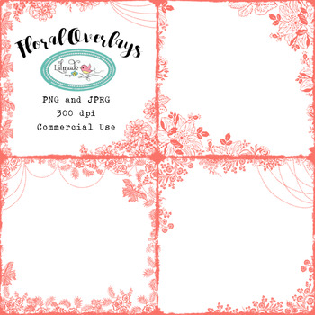 Floral overlays digital frames