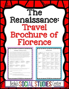 Florence During the Renaissance: Create a Travel Brochure