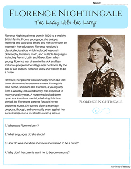 Florence Nightingale, the Lady with the Lamp {a no-prep pa