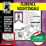 Florence Nightingale Biography Research, Bookmark, Pop-Up, Writing