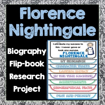Florence Nightingale Biography Research Project, Flipbook,