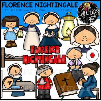 Florence Nightingale Clip Art Bundle {Educlips Clipart}