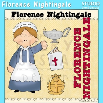 Florence Nightingale British World History Color Clip Art