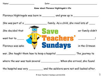 Florence Nightingale's life Lesson plan (with links to vid