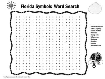 Florida Activity | Florida Word Search | Symbols of Florida