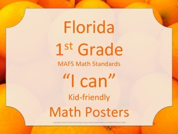 Florida 1st First Grade MAFS Math Standards Posters