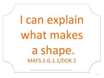 Florida 1st First Grade MAFS Math Standards Posters No Border