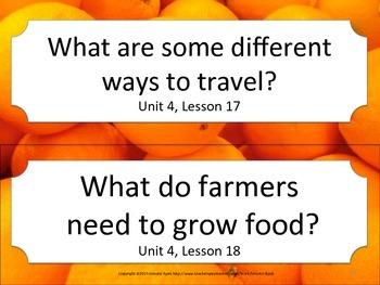 Florida 1st First Grade ELA ESSENTIAL QUESTIONS Oranges