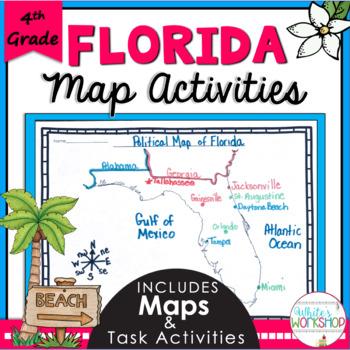 Florida Map Tasks Cards and Activities