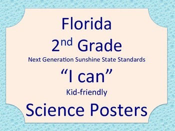 Florida 2nd Grade Science Next Generation Sunshine State Standards Posters Rain