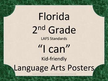 Florida 2nd Second Grade LAFS ELA Language Arts Standards Green