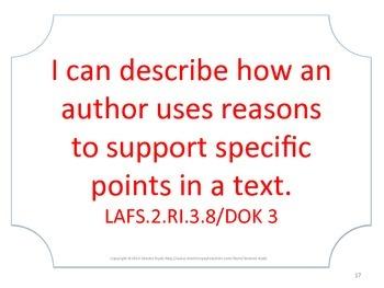 Florida 2nd Second Grade LAFS ELA Language Arts Standards No Border